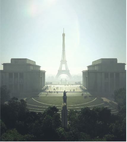 Eiffel Tower redesign rendering, photo credit: Gustafson Porter+Bowman.