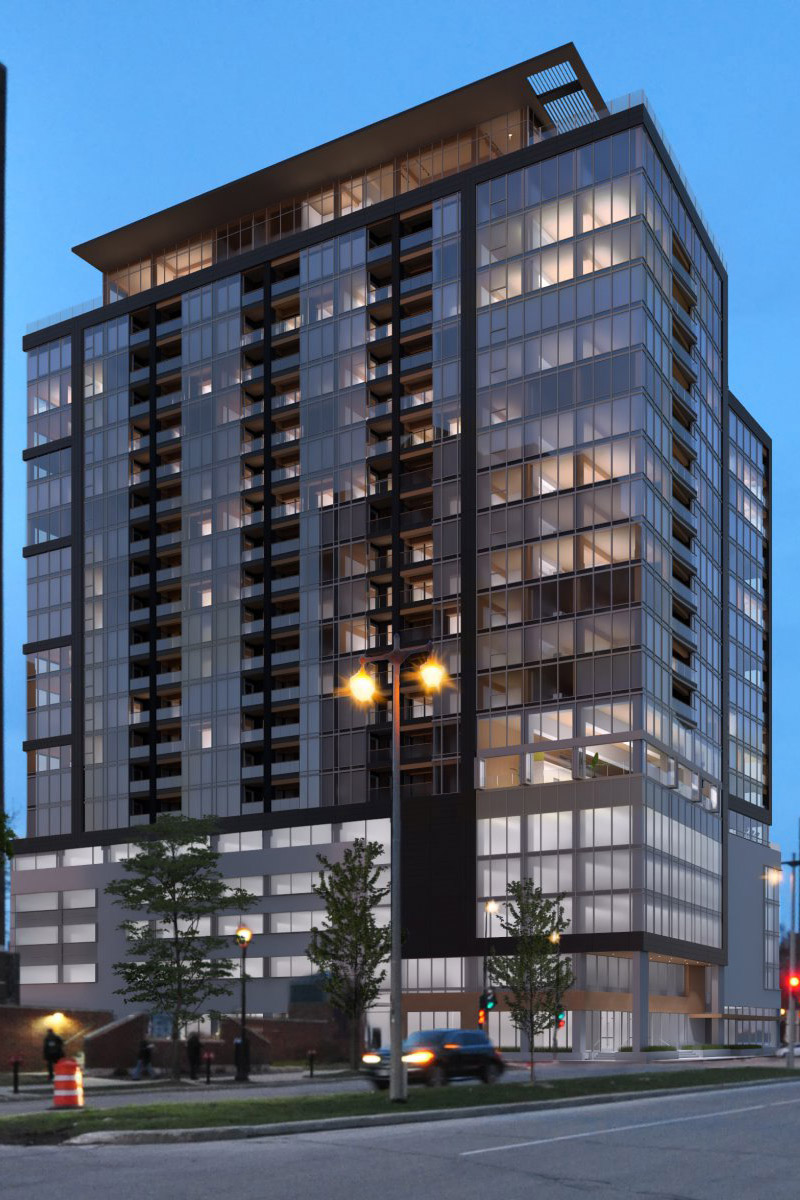 (c) Korb + Associates Architects. The Ascent apartment tower could be the tallest mass timber project in North America when complete.
