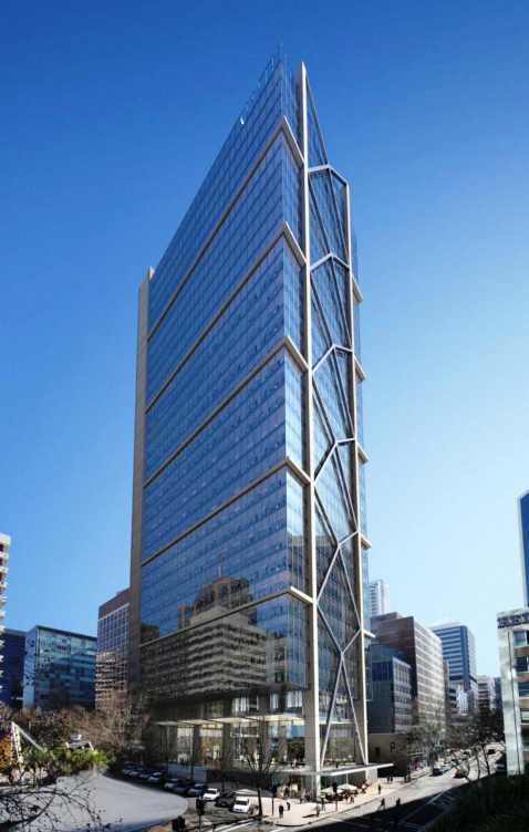 (c) SOM via CTBUH. 100 Mount Street has 39 stories and is now 95 percent leased as of June 2019.