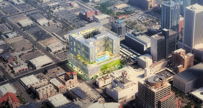 X Phoenix co-housing high-rise will contain 253 apartment units.