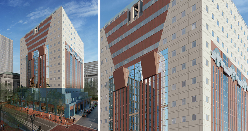 A rendering of the future design for The Portland Building. Photo source: DLR Group.