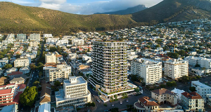 (c) Vivid Architects. The Fulcrum is a proposed 18-story building in Cape Town.