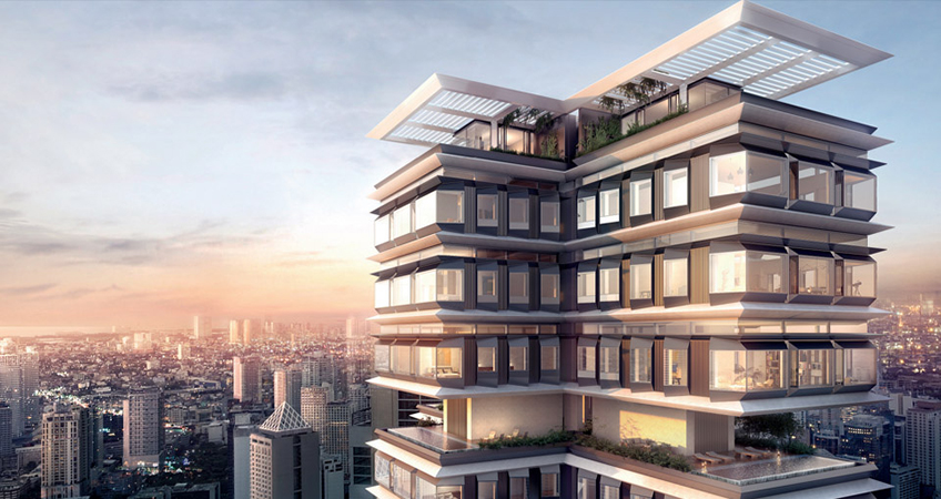 At a height of 276.8 meters, The Estate should become the tallest building in the country.  © The Estate Makati