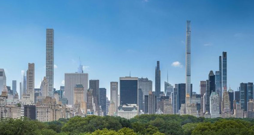 New York City's skyline is changing, with the topping off of two new supertall buildings.