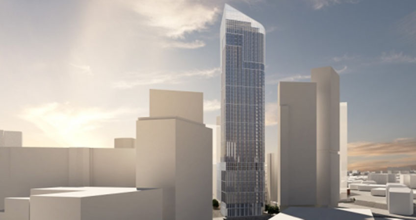 Plans for a new 55-story skyscraper in Salford have been made public.