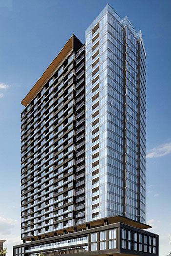 The project will bring 481 new condominium units, along with a grocery retailer, to the east end of Liberty Village.