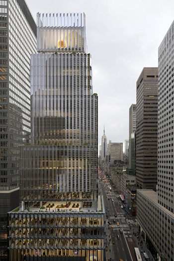The new 25-story tower will be located on the corner of 5th Avenue and 53rd Street.