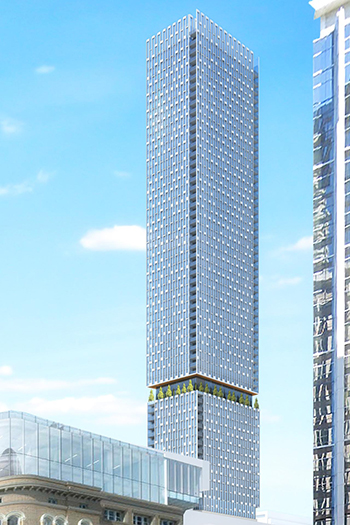 The building would rise 227 meters, making it less than three meters taller than Ten York.