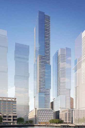 If approved, the 708-foot (216-meter) building would be among the tallest structures in the state of New Jersey.