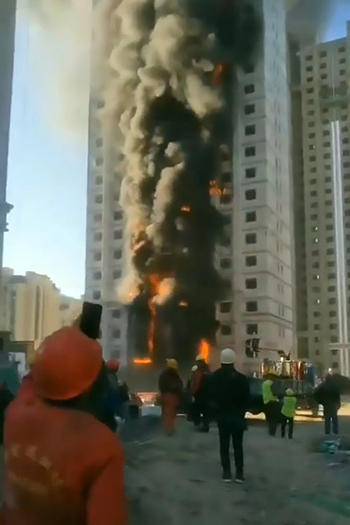 The fire spread and damaged about 14,000 square feet (1,300 square meters) of the structure before the fire service brought the flames under control.