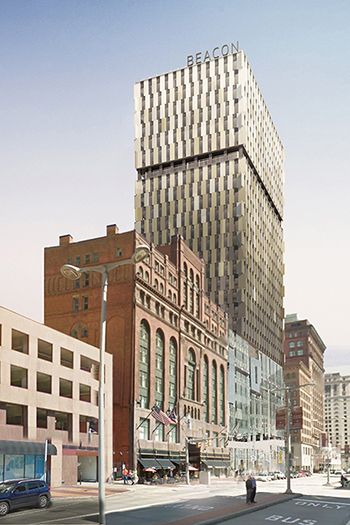 The 29-story building is the first residential high-rise development in Downtown Cleveland since 1974.