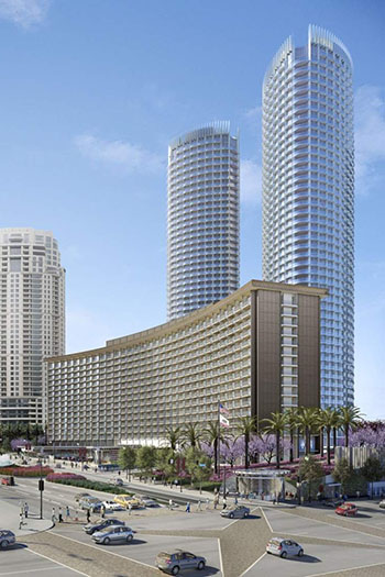The Century Plaza project includes a 400-room flagship hotel with 63 residences, and two new 44-story estate tower residences.