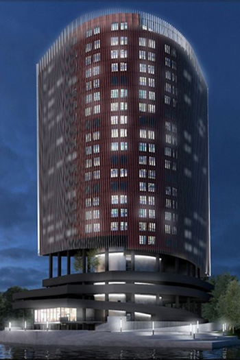The building will rise to 92 meters in height and will include 23 floors, with a total area of 20,000 square meters.