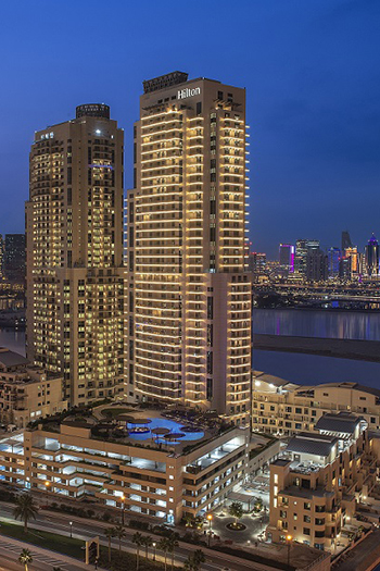 The 38-story, 370-unit property is about 30 minutes away from Hamad International Airport and lies within The Pearl-Qatar's Qanat Quartier at the gateway to the island.