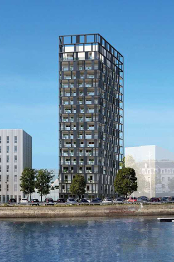 Horizon 360 will house commercial retail and offices, as well as 82 apartments equipped with terraces or balconies, including duplexes on the top two floors.