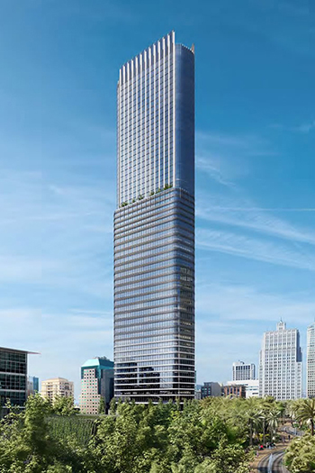 The proposal incorporates a 189-room hotel, nearly 300,000 square feet (28,000 square meters) of office space, and 165 market-rate condominium units.