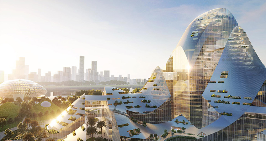 Smart City Technology Campus Competition Entry Revealed in Shenzhen