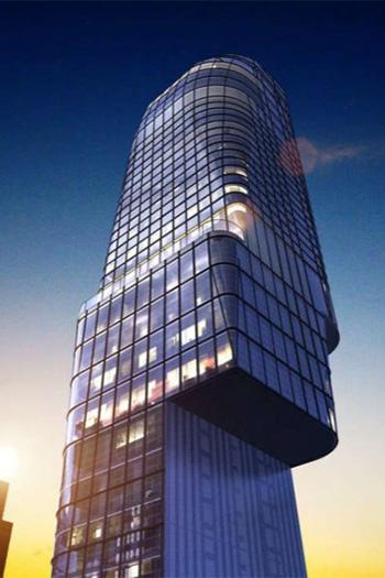 H Hotel W39 in New York City's Midtown neighborhood has begun its ascent.
