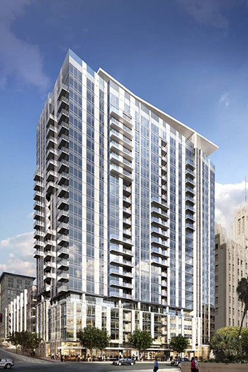 The 24-story Park Fifth consists of 347 rental apartments and 5,300 square feet (490 square meters) of retail space.