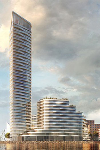 At 142 meters high, it will be among Denmark's tallest residential towers.
