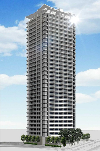 The new building planned to rise 32 floors and 119 meters.