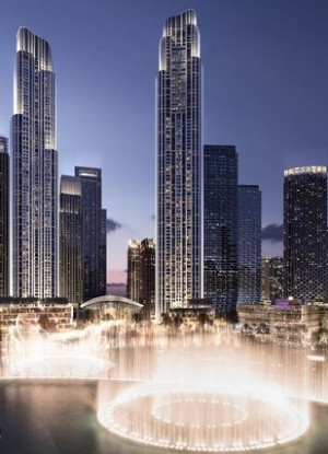 The 77-story tower is in a prime Opera district of Dubai.