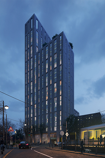 The 29-story apartment block is proposed to offer 290 apartment units.