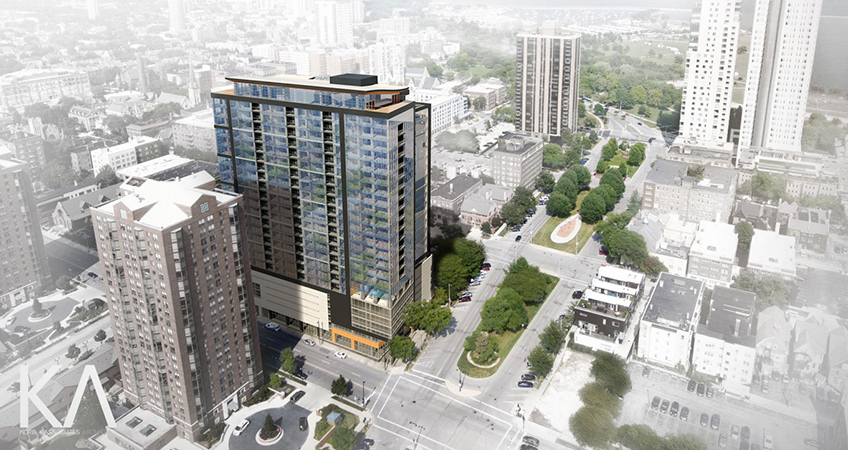 What could be the world's tallest timber composite building is beginning the pre-leasing process in Milwaukee.