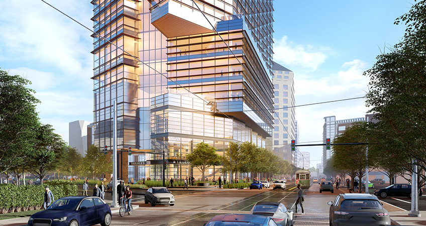 Construction will start early next year on the McKinney Avenue office tower.