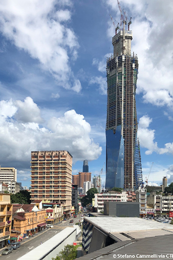 When complete the skyscraper is set to reach a height of 644 meters. Image credit: Stefano Cammelli via CTBUH.