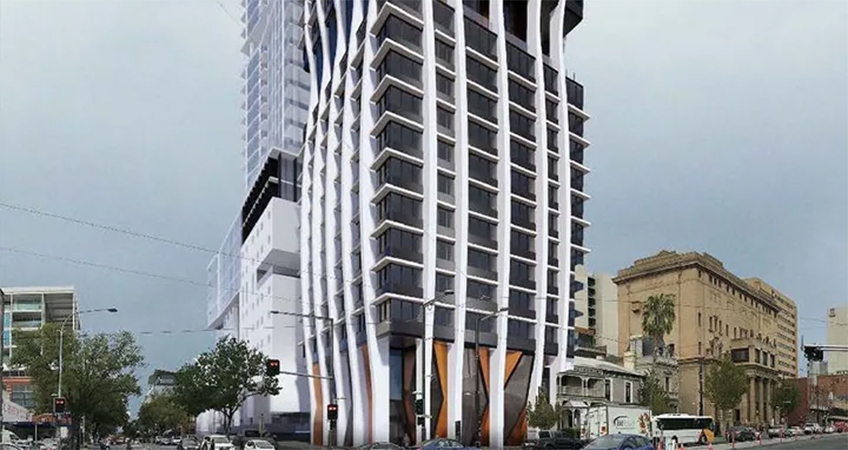 The facility will deliver 725 student rooms in Adelaide's CBD.