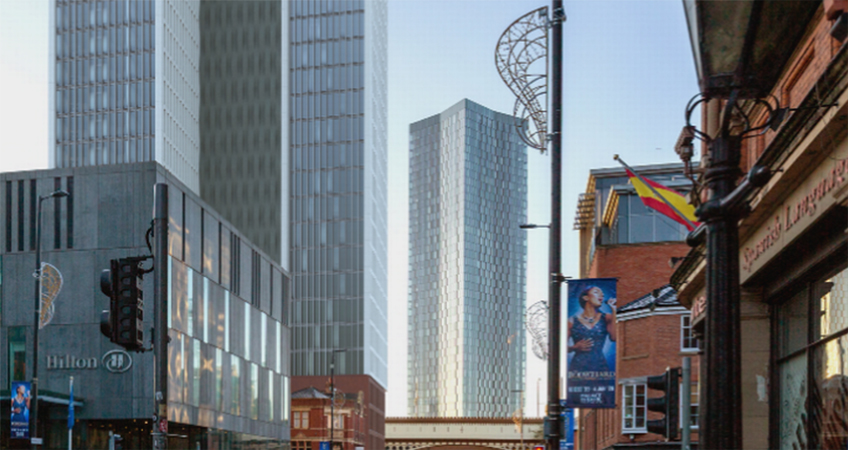 A 22-Story Aparthotel Could Be Built in Manchester