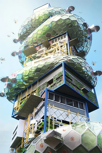 A Futuristic Vertical City Proposed for Tokyo