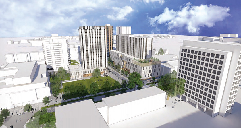 Artistic rendering of UBC Brock Commons Phase II. Image credit: HCMA Architecture + Design/UBC