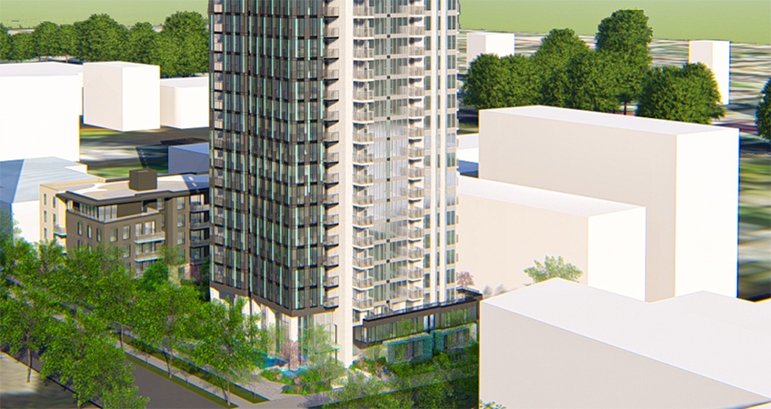 Artistic rendering of 4275 Grange Street, Burnaby. (RWA Architecture/Qualex Landmark)