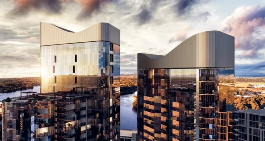 The two high-density towers have topped in Canberra, and are potentially going to be the city's tallest.