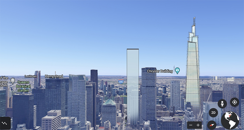 The 55-story proposed building would reach completion by 2026.