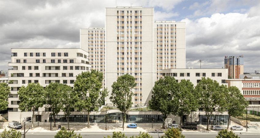 A 72-unit project was successfully integrated with an existing 1970s residential complex in Paris.