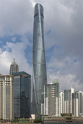 Videos were posted of a water issue that occurred in China's tallest building.