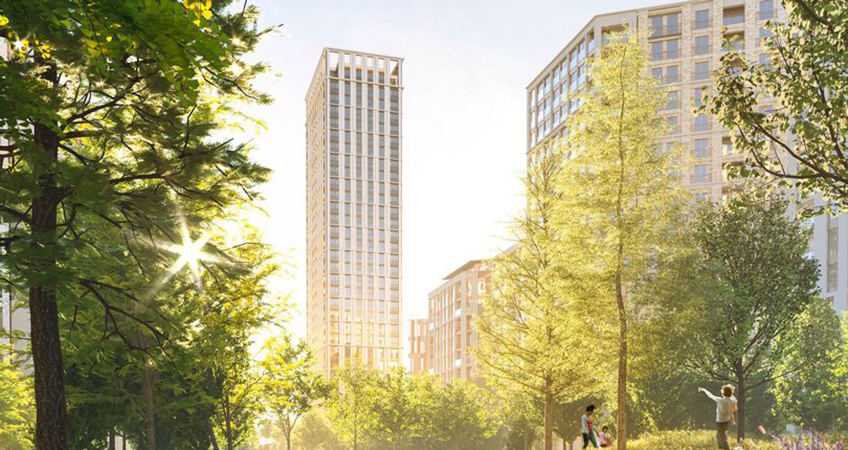 The development, built on the former Parcelforce depot in West Ham, is scheduled to be completed by 2024.