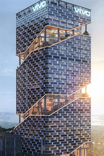 Smartphone Company is Building a 32-Story Tower Wrapped in Gardens in Shenzhen
