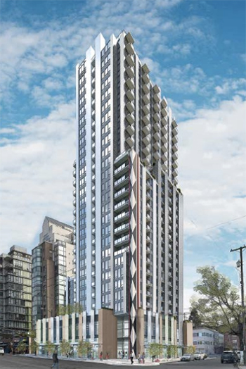 A proposal for a 28-story residential unit intended to help address the housing shortage in Vancouver has been approved.