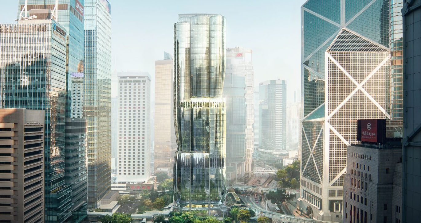 An artist's rendering of the proposed development for 2 Murray Road, a 190 meter office tower.