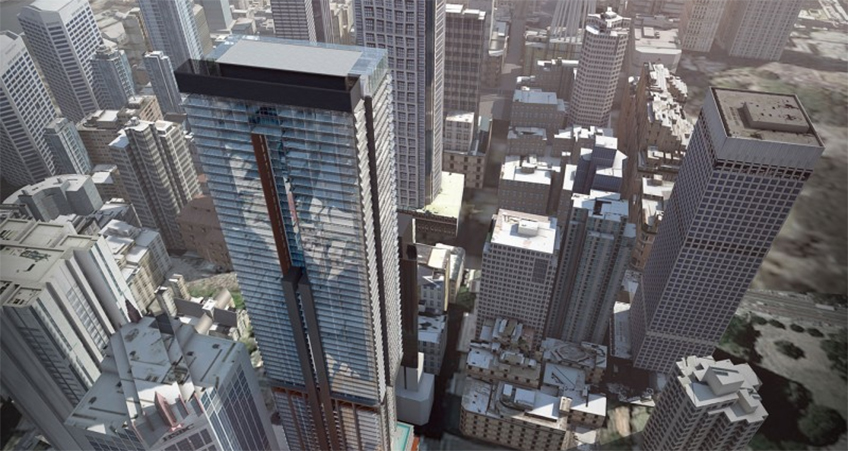 A socially distant topping out ceremony was held to celebrate Greenland Centre Sydney's milestone achievement.