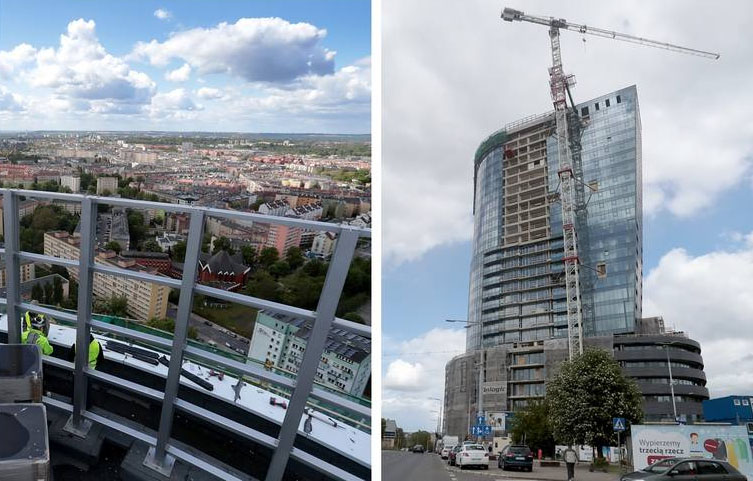 Tower Nears Completion in Szczecin