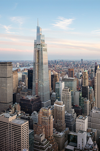 One Vanderbilt, which just opened with a ribbon-cutting ceremony, is among the tallest office towers in New York City.