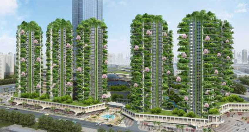 A residential complex with greenery has experienced some issues after the foliage attracted excessive mosquitoes, preventing tenants from moving in.