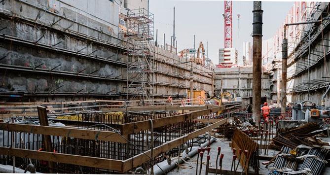 Excavation Work Complete for Zurich Building