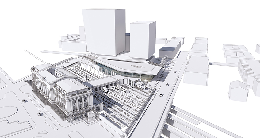 Baltimore's New Central Train Station Revealed