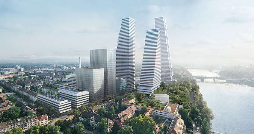 The third tower of a Basel-based complex has undergone a height increase, and will now be the tallest of the three.
